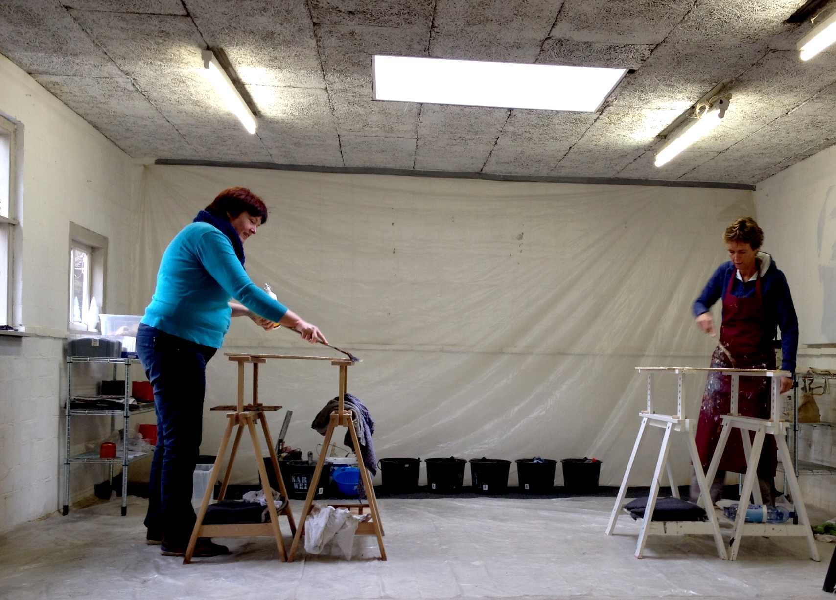 photo: students working in the studio, 3